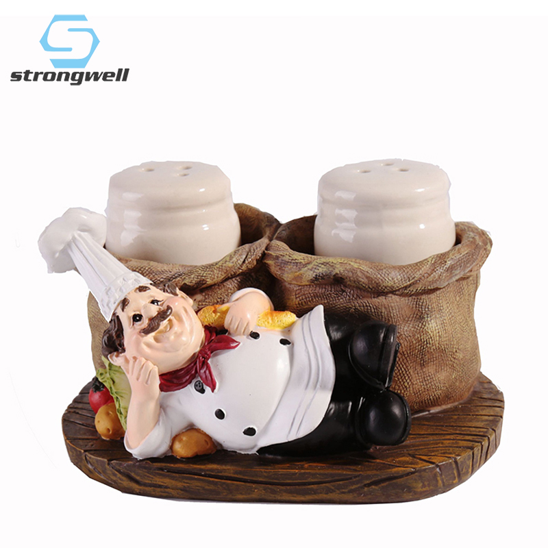 Strongwell American Retro Chef Pepper Bottle Modern Home Decoration Accessories Resin Crafts Bar Cafe Cake Shop Furnishings Figurines & Miniatures     - title=