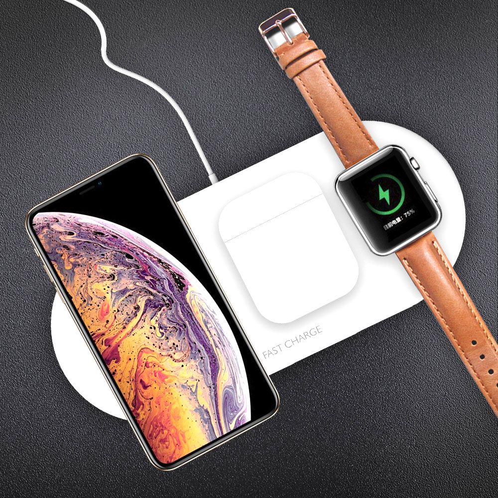 3in1 10W Wireless Charger Station Stand Pad For IPhone Apple Watch 1 2 3 4 Airpods Wearable Devices Airpower Charging Dock Stand