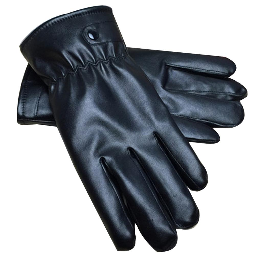 Windstopers Handschuhe Men Women Winter Windproof Faux Leather Gloves Touch Screen Plush Lined Mittens Novedades Mas Vendidas