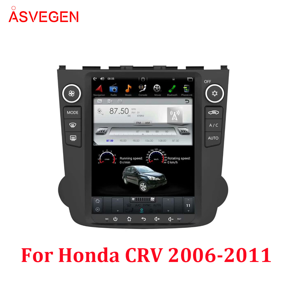 Android 7.1 10.4 Inch Car Radio <font><b>GPS</b></font> Navigation For <font><b>Honda</b></font> <font><b>CRV</b></font> 2006 <font><b>2007</b></font> 2008 2009 2010 2011 Multimedia Player HeadUnit Car Stereo image
