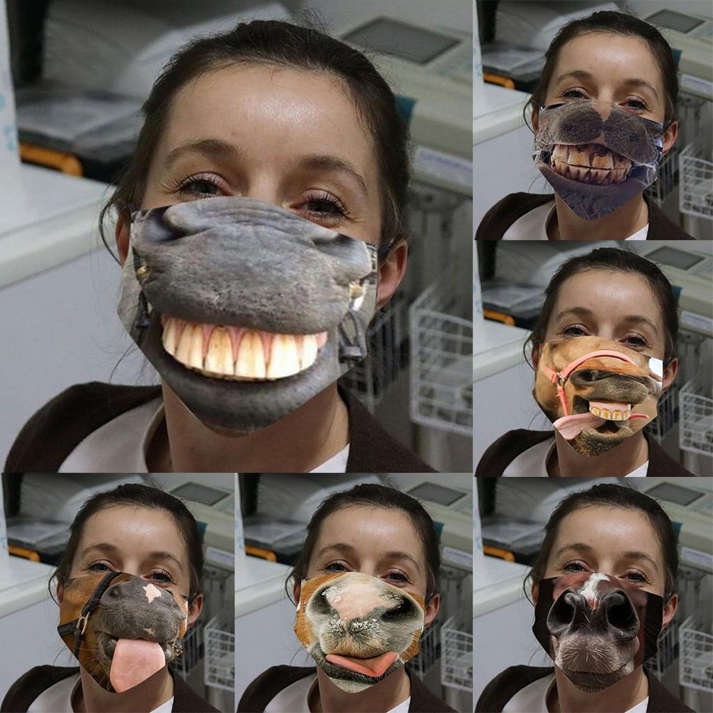 Маски для лица для косплея для взрослых, забавная маска для лица с лошадью, искусственным песком, выхлопной, Солнцезащитная маска, маска для ...