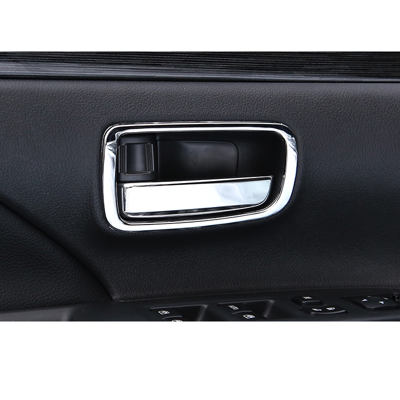 Lsrtw2017 Abs Stainless Steel Car Inner Door Handle Frame for Mitsubishi Outlander 2013 2014 2015 2016 2017 2018 2019 2020 in Interior Mouldings from Automobiles Motorcycles