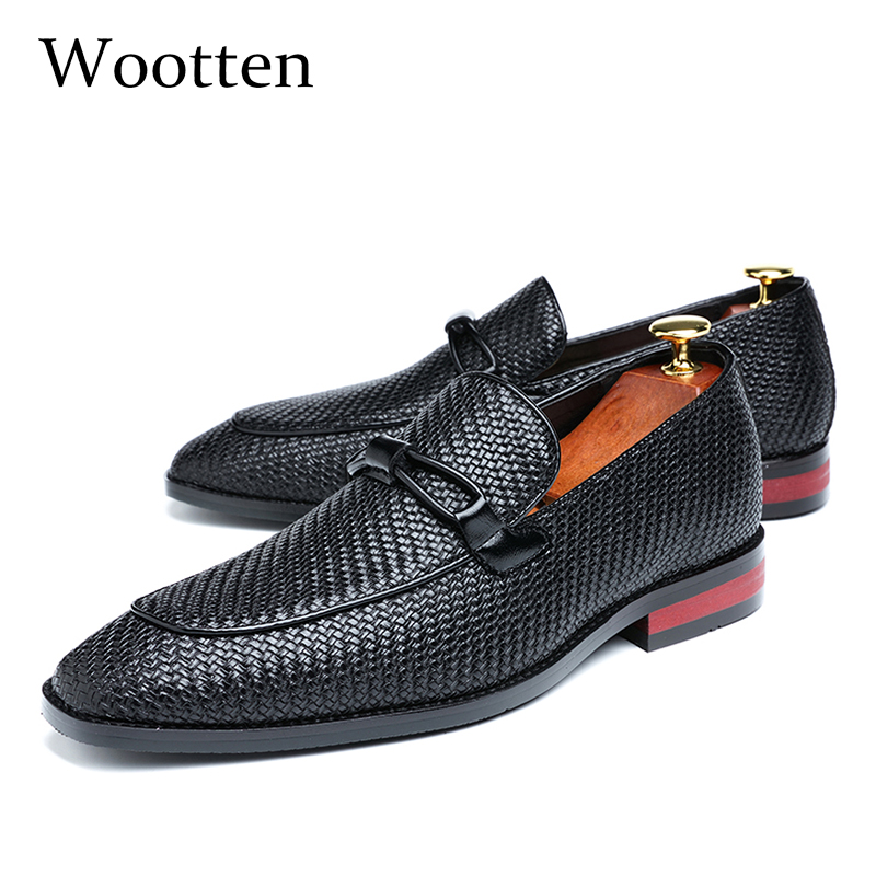 37-48 Men Casual Shoes Moccasins Leather Breathable Fashion Luxury Brand Classic Comfortable Elegant Plus Size Loafers Men #319