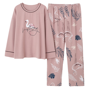 Image 4 - Plus Size 5XL Sleep Lounge Pajama Long Sleeve Top + Long Pant Woman Pajama Set Cartoon Print Pyjamas Cotton Sleepwear For Women