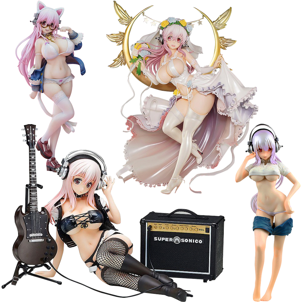 27CM SUPER SONICO THE ANIMATION SUPERSONICO Alphamax Sexy Girls Rocket Boy Action Figure Japanese Anime Adult Action Figures Toy