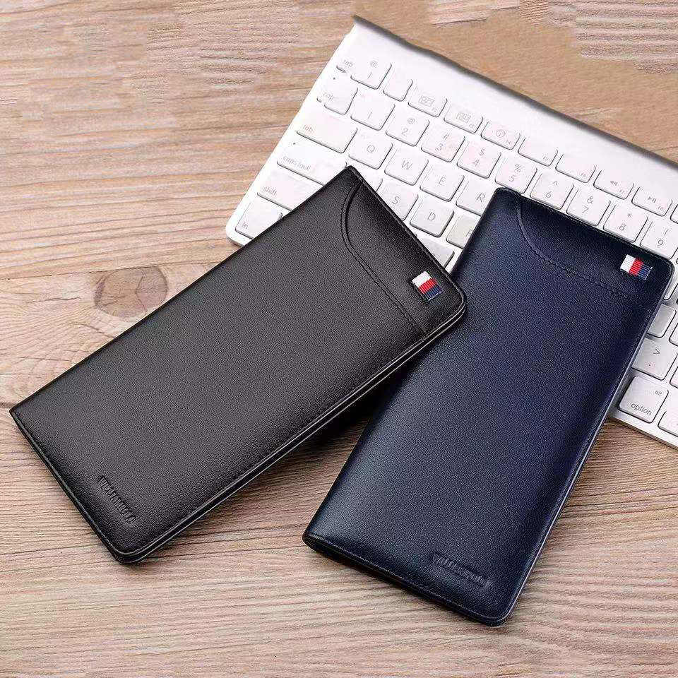 Ultrathin Slim Long Clutch Bag Credit Card Holder Men Wallet Genuine Leather Handbag Multi Card Case Cash Purse pl302