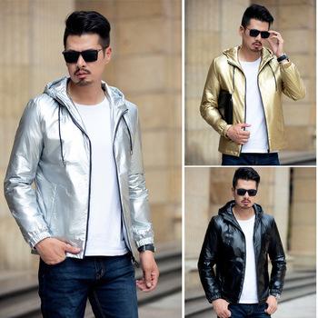Skóra z kapturem kurtka moda moda moda męska nosić wodoodporny PU płaszcz skórzany płaszcz jesień 2020 męska płaszcz skórzany tanie i dobre opinie NoEnName_Null W (pochodzenie) Cienkie Rękawy odpinany Poliester Krótki Luźne Zamki zipper Pełna Na co dzień Size Without collar