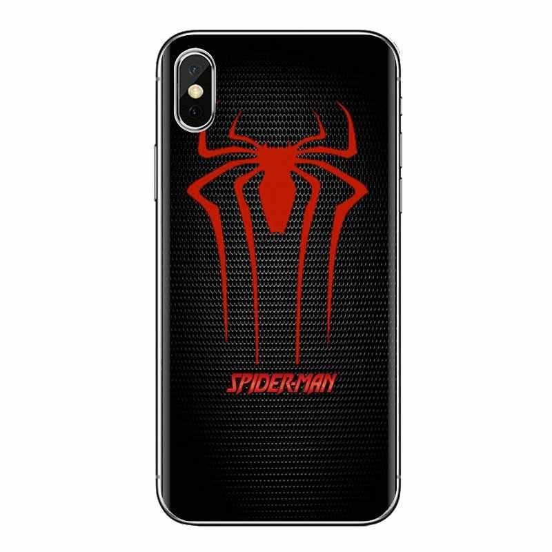 TPU Spiderman Spider Man Marvel Venom สำหรับ iPhone XS Max XR X 4 4S 5S 5C SE 6 6S 7 8 Plus Samsung Galaxy J1 J3 J5 J7 A3 A5