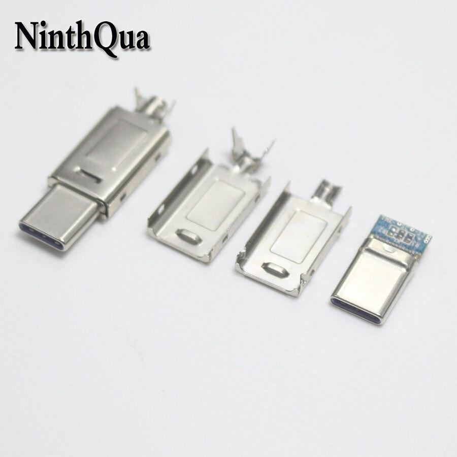Cable de corriente más grande USBC tipo-c 5A, 1/2/5 unidades, enchufe DIY de carga rápida para Samsung Note 9 S9 Xiaomi Mi8 POCOPHONE F1, cargador de USB-C