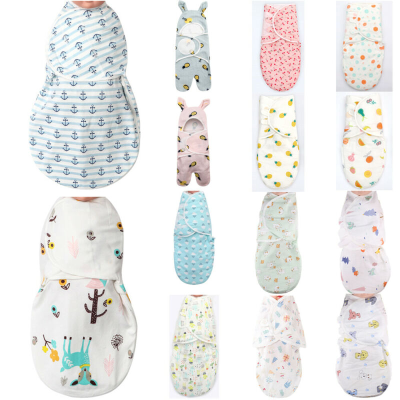 Babies Sleeping Bags Newborn Baby Cocoon Swaddle Wrap Envelope 100%Cotton 0-3 Months Baby Blanket Swaddling Wrap