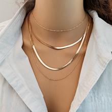 Модные металлические Многослойные Ожерелье для женщин девушек