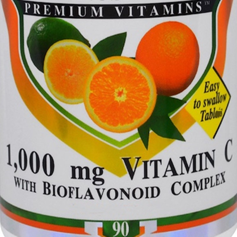 Vitamin C And Bioflavonoid Complex, 1000 Mg, 90 Pieces