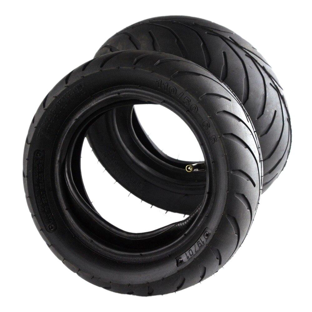 1 ensemble de valves coudées pour pneu avant et 6.5-90/65 ou arrière 6.5-110/50, chambre à air, convient pour Mini vélo tout-terrain, e-scooter, Mini Moto 49cc