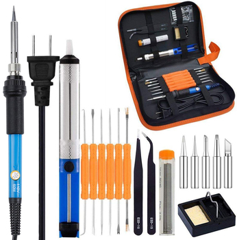 Full Set 60W 110V/220V Electric Soldering Iron Kit with Adjustable Temperature Welding Iron Electronic Repair Tool