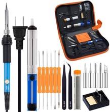 Volledige Set 60W 110V/220V Elektrische Soldeerbout Kit Met Instelbare Temperatuur Lassen Iron Elektronische Reparatie tool
