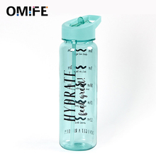 Omife 750ml Tritan Drink Water Bottle Sport Plastic with Straw BPA Free Fitness gourde For Jug Gym Drinkware