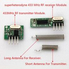 1 set RF modul 433 Mhz lagerungs empfänger und sender kit mit antenne Für Arduino uno Diy kits 433mhz fernbedienung