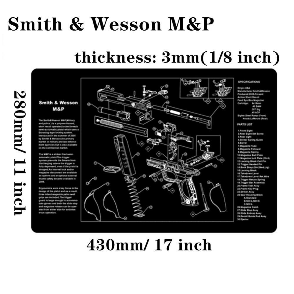 Большой чистящий коврик для ружья AR15 AK47 Glock 1911 SIG винтовка пистолет оружейный оружейник разборка ремонт набор инструментов для сборки скамьи колодки - Цвет: Smith Wesson