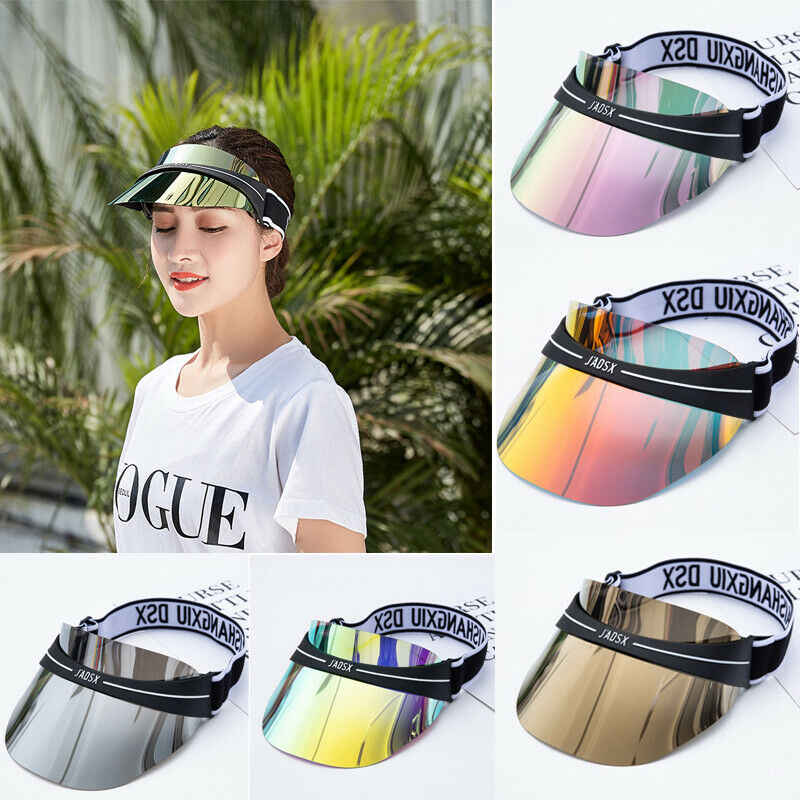 Summer Hats Sun Visors Women Men High Quality Casual Hats PVC Clear Plastic Adult UV Protective Beach Sunscreen Caps