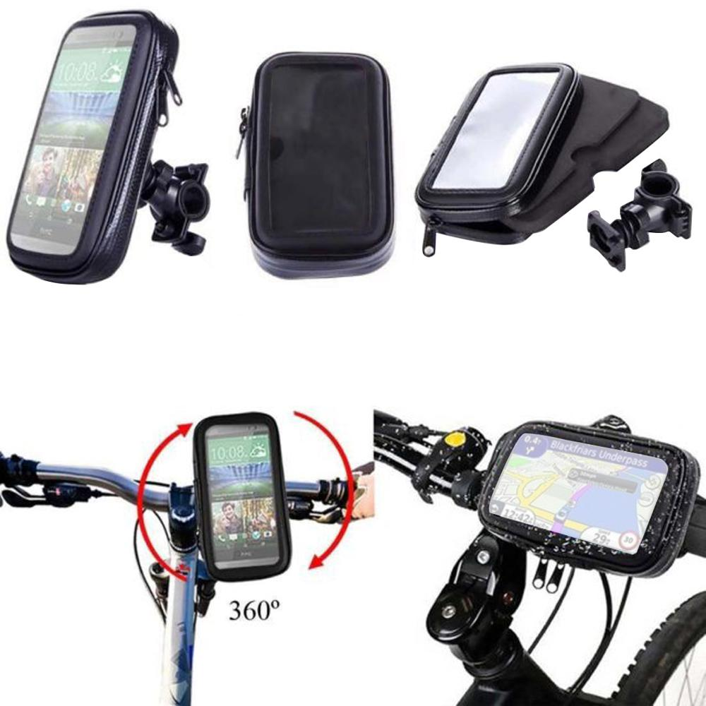 Waterproof Phone Bag Bicycle Motorcycle with Back Holder Clip Stand For <font><b>Samsung</b></font> For iPhone Mobile Protective Case GPS Support image