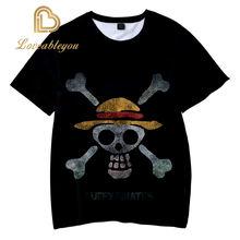 Лидер продаж стильные футболки luffy с 3d принтом Амина футболка