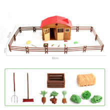 Simulation Play Model Farm House Model Children Play House Toy Poultry Animal Model Scene Model toys for children gift(China)