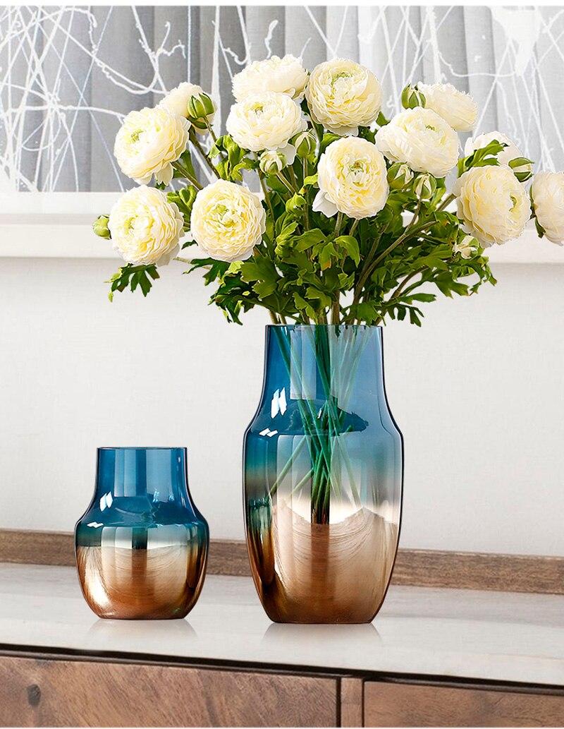 vidro sala estar exibir vasos arte hidroponia minimalista gradiente artware