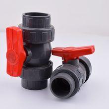 1pc 20/25/32/40/50mm pvc tubulação união válvula de tubulação de água encaixes de tubulação válvula de esfera jardim irrigação conector de tubulação de água adaptador de aquário