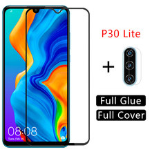 Case Voor Huawei P30 Lite Cover Gehard Glas Screen Protector Coque Op P 30 Licht P30lite Camera Lens Film Huawey huwei Honor(China)