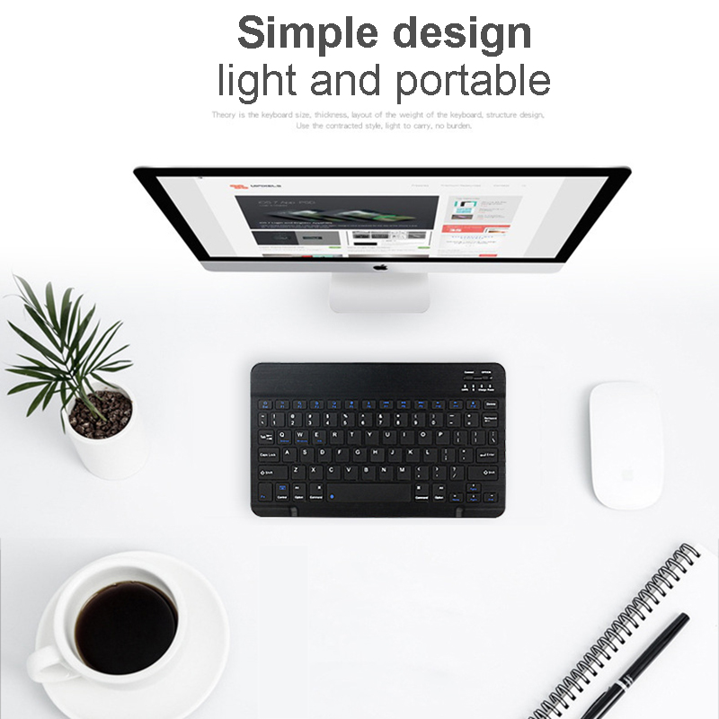 Schlank Tragbare Mini Drahtlose Bluetooth Tastatur Für Tablet Laptop Smartphone iPad Unterstützung IOS Android-System Telefon Universal
