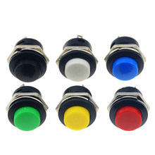 6PCS R13-507 16MM Self Return Momentary Push Button Switch 6A/125VAC 3A/250VAC(China)