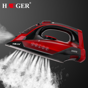 Image 2 - 2600W Cordless Wireless Charging Portable Steam Iron 5 Speed Adjust Clothes Ironing Steamer Portable Ceramic Soleplate EU Plug