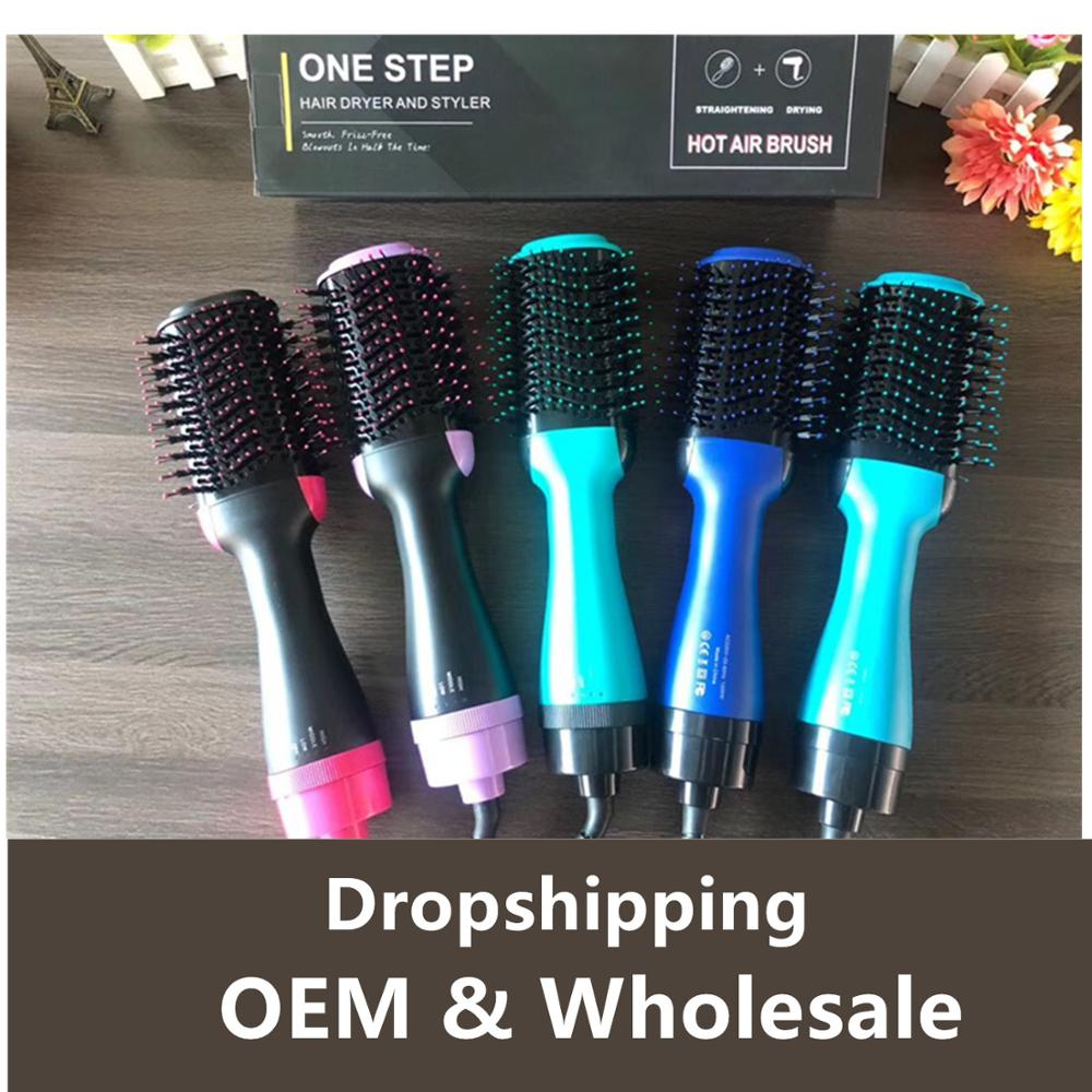 3 In 1 One Step Hair Dryer And Volumizer Hair Dryer Brush Rotating Curling For Styling Blow Hairdryer Hot Air Driyer Straighten