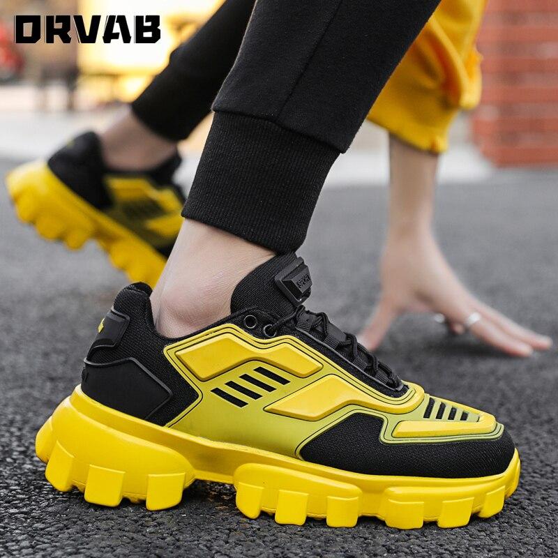 Men Sneakers Fashion Black Yellow Men