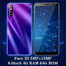 9X Smartphones 4GB RAM 64GB ROM version mondiale visage ID débloqué Android téléphones mobiles Quad Core 13MP caméra pas cher Celulares 3G