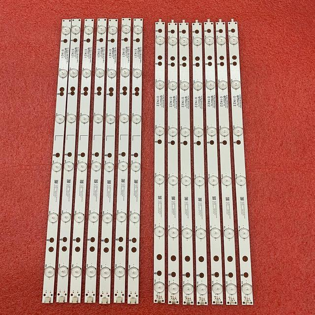 5 مجموعة = 70 قطعة LED شريط إضاءة خلفي ل 49PUS6401 49PUH6101 49PUS6561 49PUS6501 LB49016 V1_00 01N21 01N22 A TPT490U2 EQLSJA.G