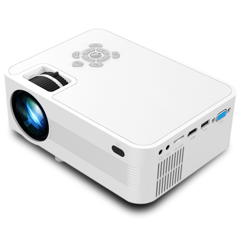 Best JVP600 Portable Home 1080P HD Projector LED Projector Projector System Media Player Cinema 3D TV US Plug