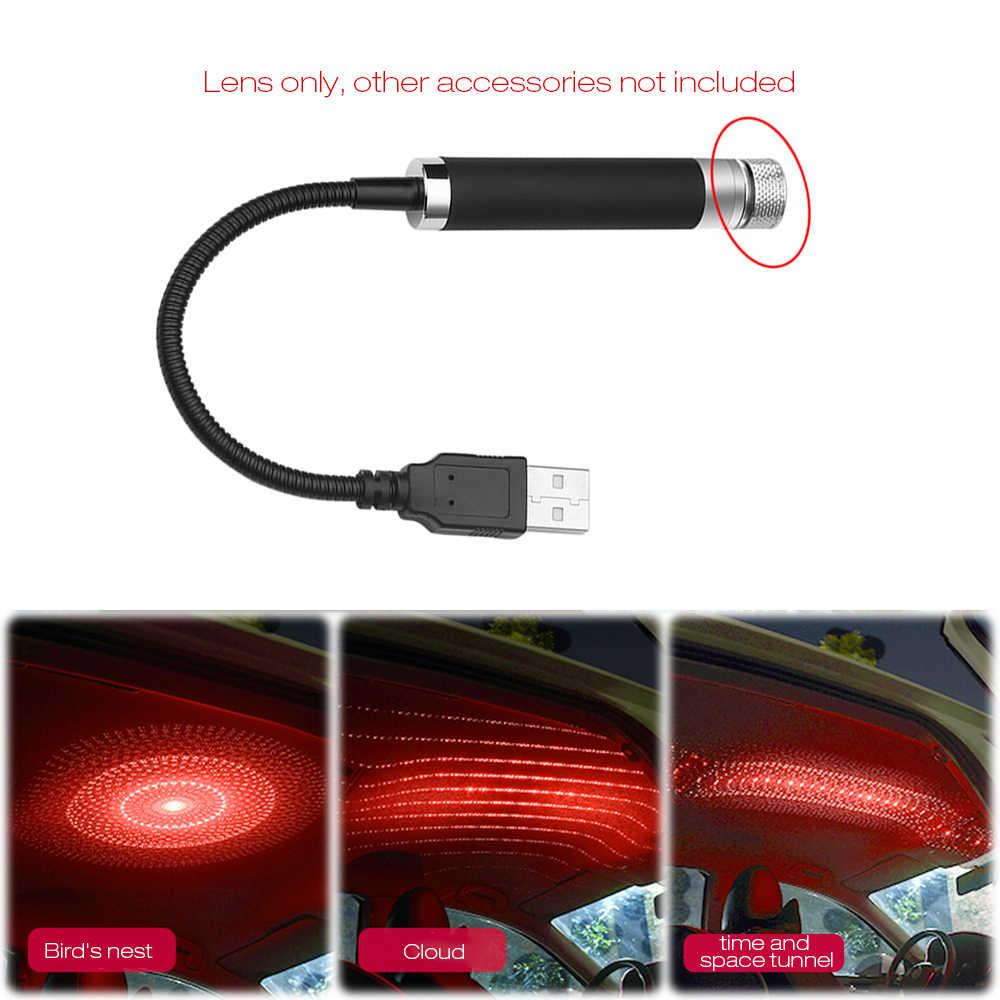 Auto LED Dach Star Night Licht Projektor Licht Star Dome Atmosphäre Dekorative Lampe 360 grad Rotation Flexible mit USB