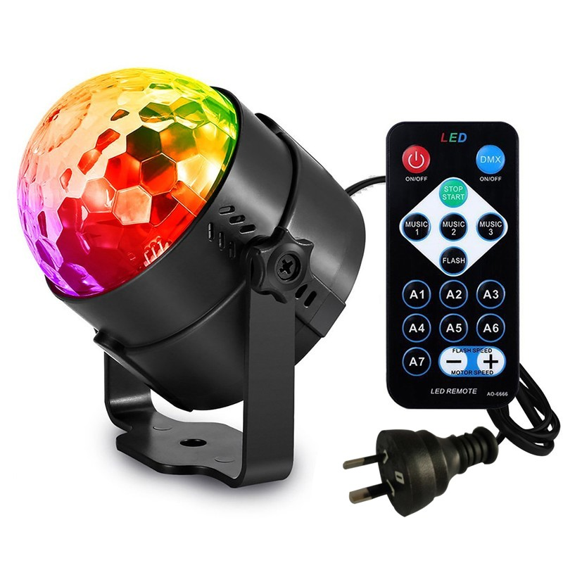 Disco  USB Light Party Laser For Car DJ Magic Ball Sound Control Moving Lamp Head Vehicle Disco Projector Stage Lights