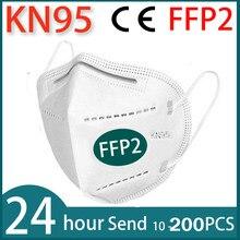 Mascarilla reutilizable KN95 de 2 a 100 unidades, máscara de seguridad antipolvo, antipolvo