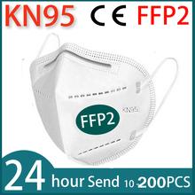2-100 sztuk wielokrotnego użytku maska KN95 maska ochronna maska na twarz maski usta pyłoszczelna maska ochronna FPP2 Kn95Mask tanie tanio AIKOZ Chin kontynentalnych GB2626-2006 FFP2 Włókniny EN 149 -2001+A1-2009