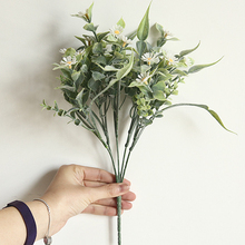 Artificial Small Wild Chrysanthemum Flowers Bouquet Water Grass Fake For Party Home Office Decoration Floral Plant Wall