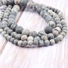 Black Network Natural?Stone?Beads?For?Jewelry?Making?Diy?Bracelet?Necklace?4/6/8/10/12?mm?Wholesale?Strand