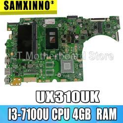 Laptop płyta główna do For Asusa UX310UAK UX310UV UX310UQ UX310UA UX310U płyty głównej płyta główna I3-7100U CPU 4GB pamięci RAM wymiany!!!