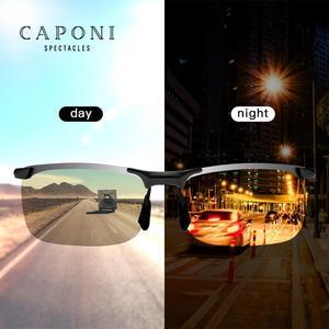 Image 2 - CAPONI Nachtsicht Sonnenbrille Polarisierte Photochrome Sonnenbrille Für Männer Oculos Gelb Driving Gläser gafas de sol BSYS3066