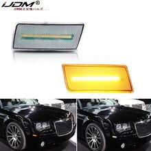 Luz de marcador lateral do carro de ijdm âmbar/switchback branco led para 2005-2010 chrysler 300 sinais de volta/luzes de condução/luzes de estacionamento 12v