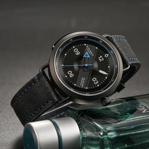 Image 4 - Reef Tiger reloj Blac Simple para hombre, pulsera de cuero, resistente al agua, militar, automático, RGA9055, 2020