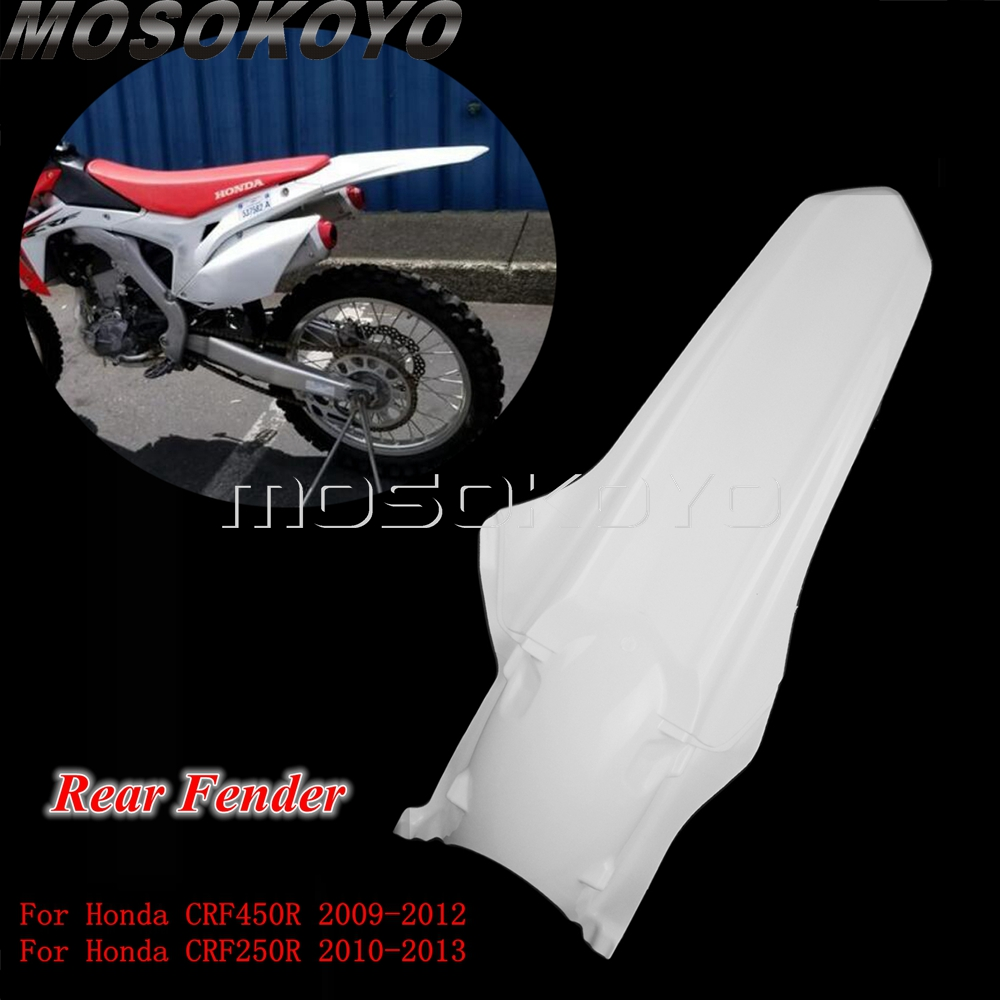 Dirt Pit Bike Motorcycle Rear Mudguard Fender Cover Plastic Guard For Honda CRF250R CRF450R   CRF 250 450 R   2009-2013
