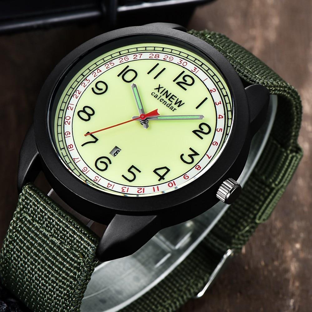 Sports Watch Men's Nylon Waterproof Date Quartz Watch Analog Quartz Wrist Watches Military Sport Relogio Masculino часы мужские