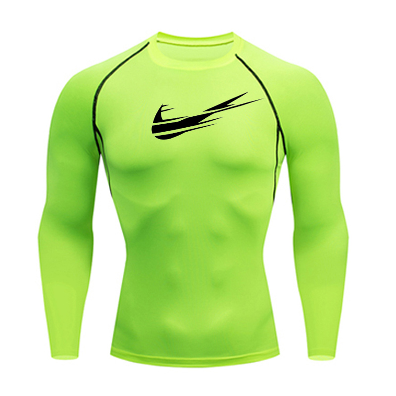 Mens Compression Baselayer T Shirt Workout Cycling Running Sports Gym Tops S-4XL